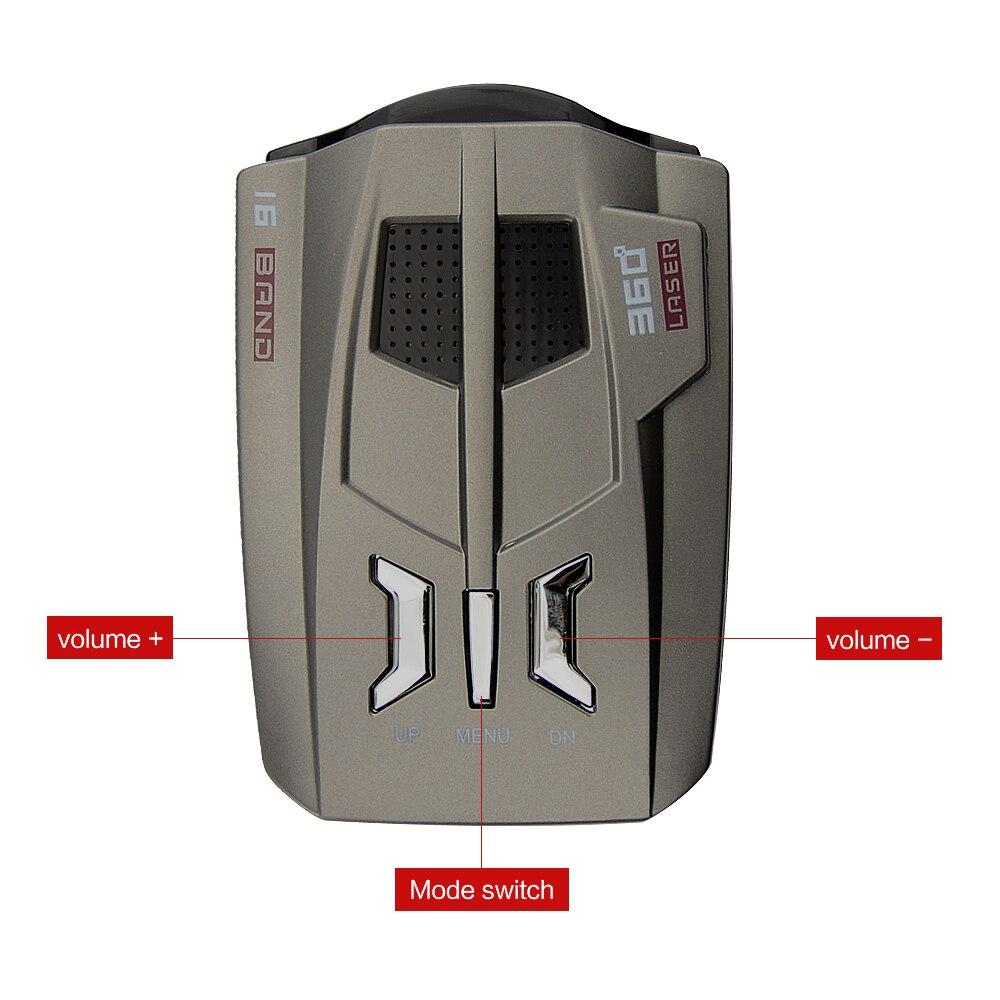 OkeyTech Best V9 Car Radar Detector 16 ապրանքանիշ LED LED - Ավտոմեքենաների էլեկտրոնիկա - Լուսանկար 2