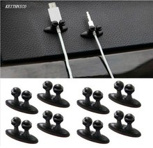 KEITHNICO 6Pcs Adhesive Car Cable Holder Clips Cable Winder Fixer Organizer Desk Wall Cable Wire Cord