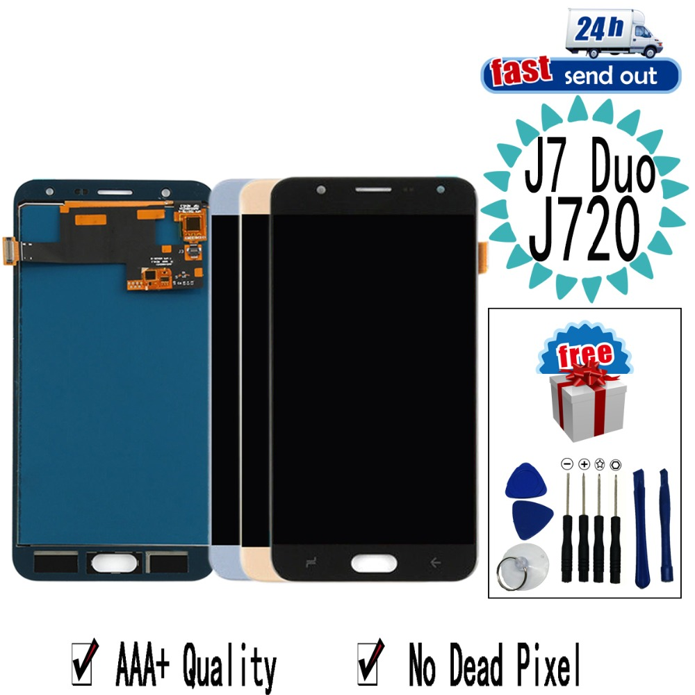 <font><b>J720</b></font> <font><b>LCD</b></font> For SAMSUNG Galaxy J7 Duo 2018 <font><b>J720</b></font> SM-<font><b>J720</b></font> J720F <font><b>LCD</b></font> Display Touch Screen Tested Digitizer Assembly image