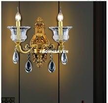 Медная настенная лампа в современном стиле бра для виллы хрустальное