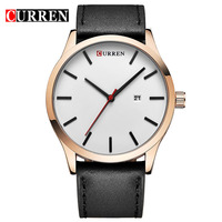 Men Watch CURREN Watches 2016 Top Brand Luxury Fashion Casual Leather Quartz Wristwatches Relogio Masculino Esportivo