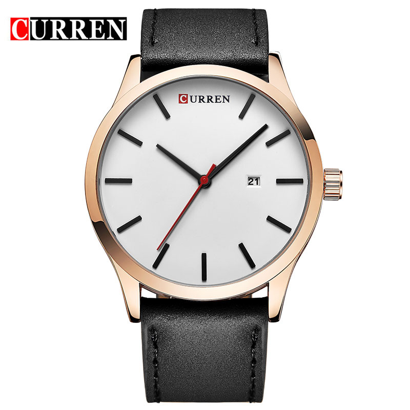 Men Watch CURREN watches 2018  top brand luxury  fashion casual leather Quartz Wristwatches relogio masculino esportivo цена и фото