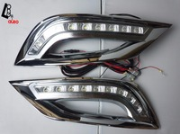 Waterproof Style LED Car DRL Daytime Running Lights With Turning Signal Light For Hyundai SONATA 8th