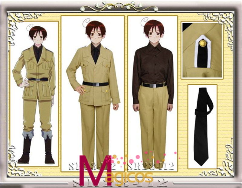 Anime APH Axis Powers Hetalia South Italy Military Uniform Cosplay Party Costume Custom Made