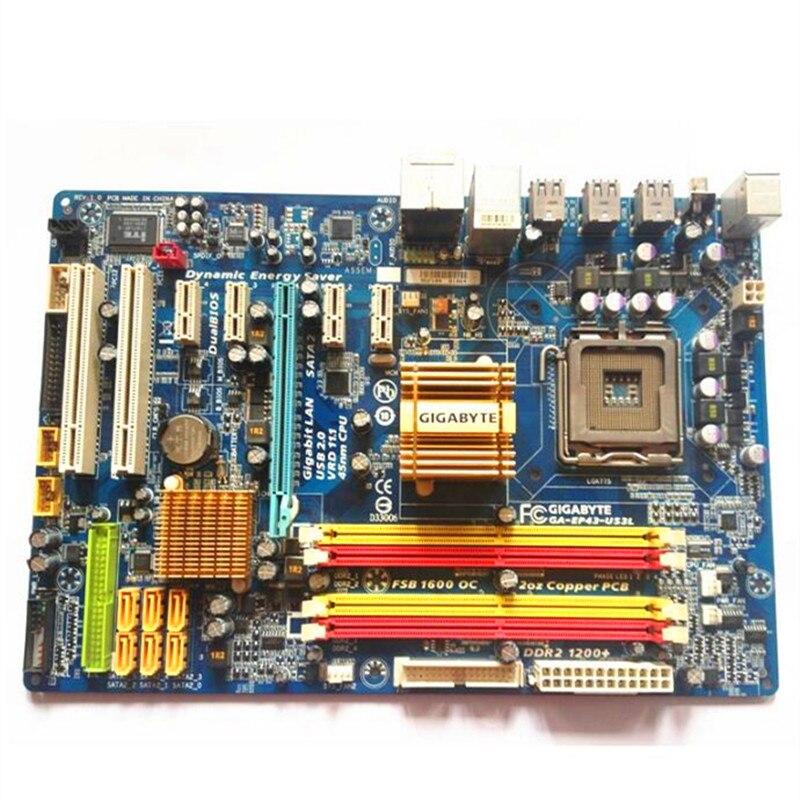 Gigabyte DDR2 Used Motherboard Lga 775 GA-EP43-US3L P43-Socket for Ga-p43-es3g/P43-es3g/Ep43-s3l/Ep43-ds3l