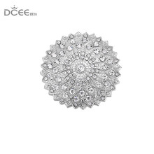DCEE newest strong Magnet Brooch Exquisite Rhinestone Magnetic Brooches For Women Muslim S