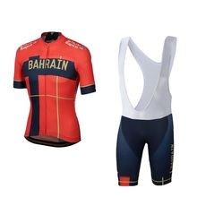 цена на all 2019 pro team red summer cycling jersey kits breathable Bicycle maillot MTB bike clothing Ropa ciclismo gel pad