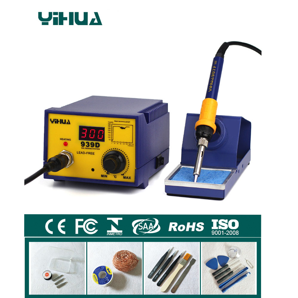 110v/220V 60W Constant temperature Antistatic Soldering Station Electric Soldering Iron YIHUA 939D цена