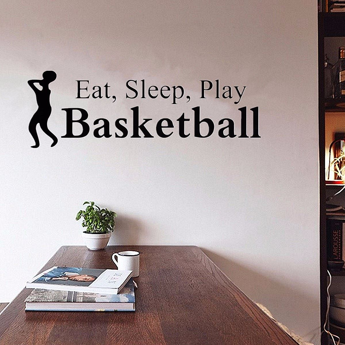 Vinyl lettering decals for crafts - Eat Sleep Play Basketball Letter Wall Mirror Sticker Art Vinyl Decal Home Kids Room Shop Decoration