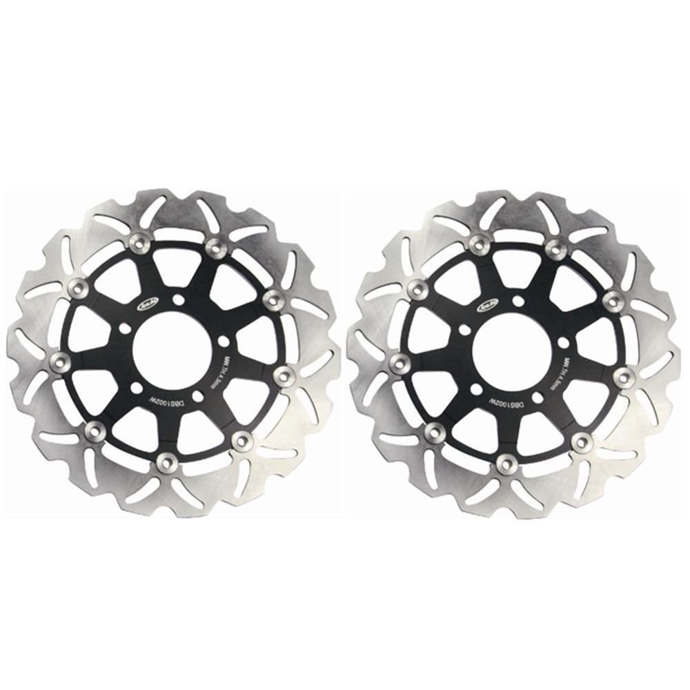 2x Front Brake Rotors Disc Braking Disks L/R for Suzuki GSX 600F/750F 2004-2006 SV650 SV650S 2003-2009 GSF 650 Bandit 2005-2006