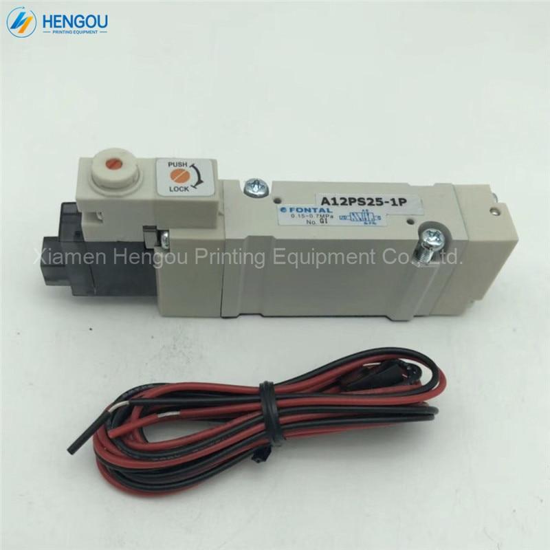 1 Piece Brand new Komori original valve A12PS25-1P komori printing machine spare parts 3Z0-8102-820