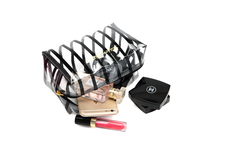 Transparent Cosmetic Bags clear PVC Makeup Bags Travel Organizer Necessary Beauty Toiletry Bag ...