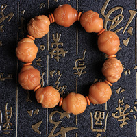 Natural weathering Coffee Yellow Bodhi root Amitabha carved ornaments weathering Bodhi Wenwan Hannaford crafts