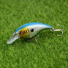 LINGYUE 1PCS Fat Swimbait 7 5cm 10g Fishing Lure 3D Eyes Crankbait Fly Tying Tuna Lures