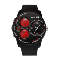North Outdoor S SHOCK Sports Men Watches 5ATM Swim Climbing Alarm Fashion Casual Digital Military Watch
