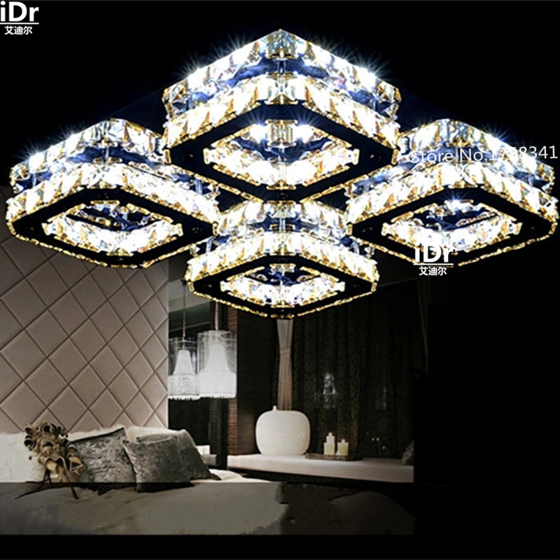 the new listing Europe fashion dimming bedroom LED ceiling light Creative K9 crystal lamp Bedroom lamp Hall Luxury lamp