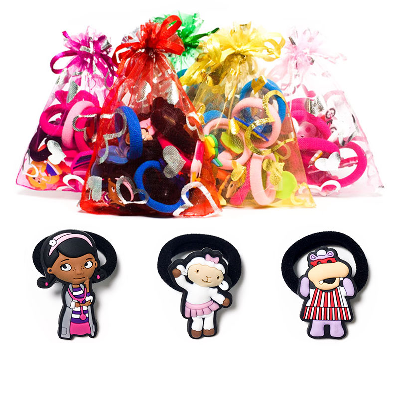 1-8pcs Doc Mcstuffi Hot Cartoon Hair Bands Hairpins Barrettes Kids Headwear Multicolor Girls Hair Ropes Hair Travel Accessories