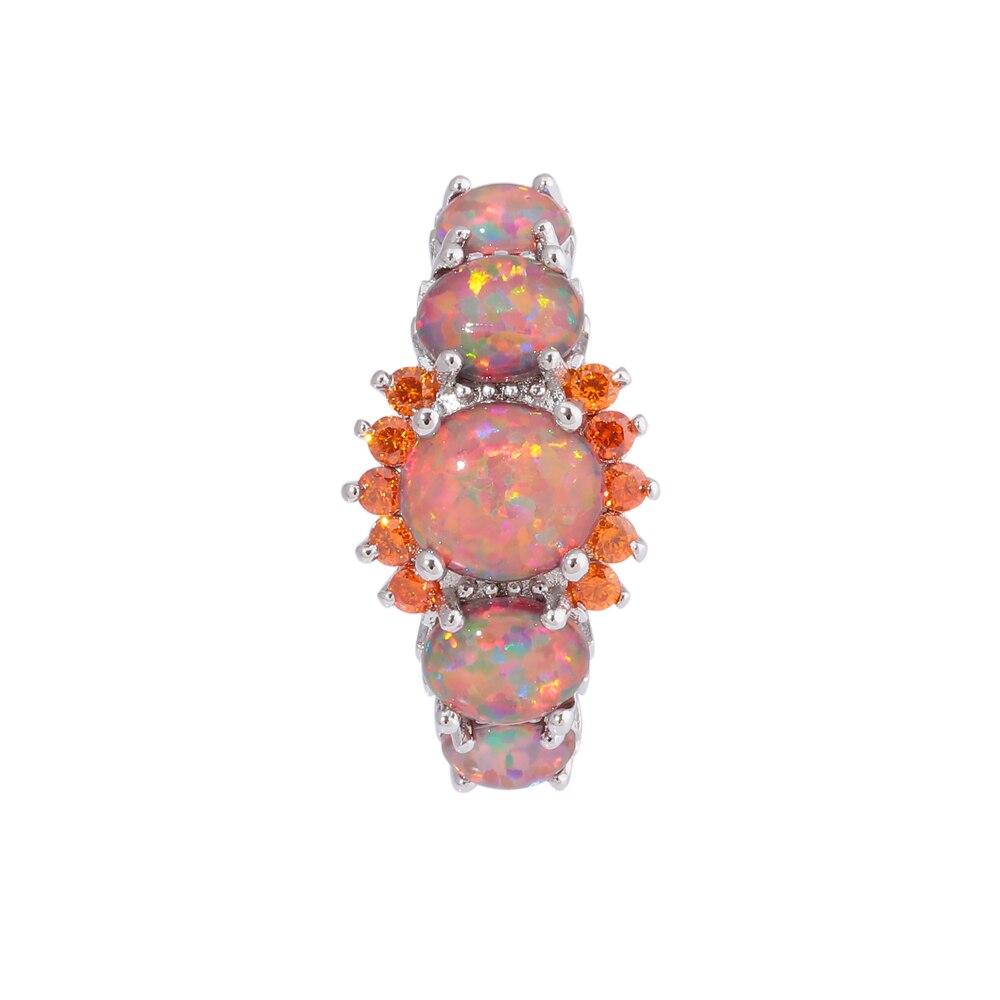 Orange fire opal ring 1