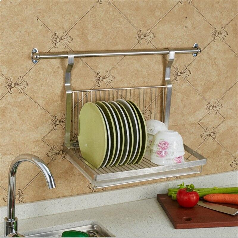 tiers cajas de almacenaje de la cocina estante para platos de acero