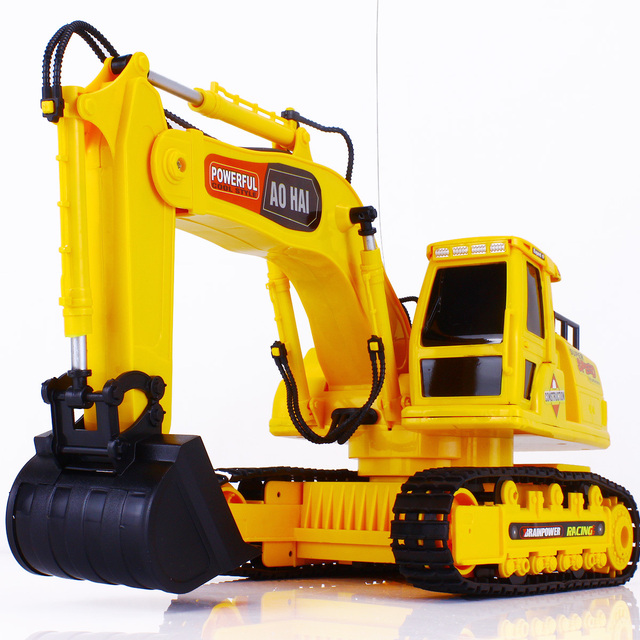 Olympian wireless remote control electric excavator model remote control car charge toy excavator remote control engineering
