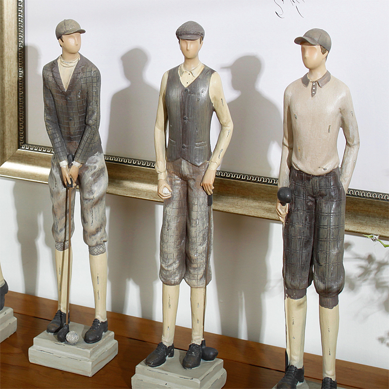 4PCS/SET American Style Resin Diana golf hockey player Figurines furnishing articles Gifts Crafts