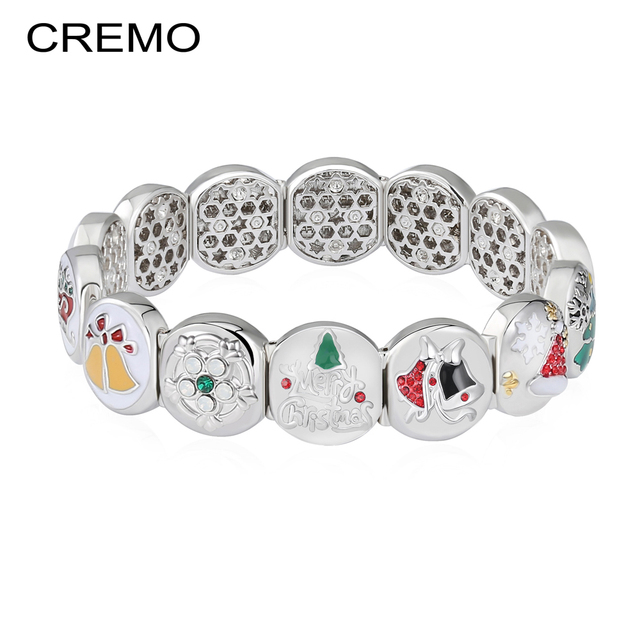 Cremo Adjustable bracelets & bangles Elastic Changeable Invention Bracelets For Women Charms Enamel Christmas Bracelet Pulseras