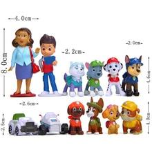 Новинка, 12 шт./лот, модель «Щенячий патруль», аниме, фигурка, фигурки, сделай сам, креативная кукла, игрушка для щенка, патролин, игрушечные собаки для детей