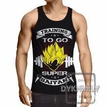 2017 New Brand Anime Mens Vest Tank Top 3D Dragon Ball Z Super Saiyan Bodybuilding Fitness Men Tank Tops Sleeveless Clothing