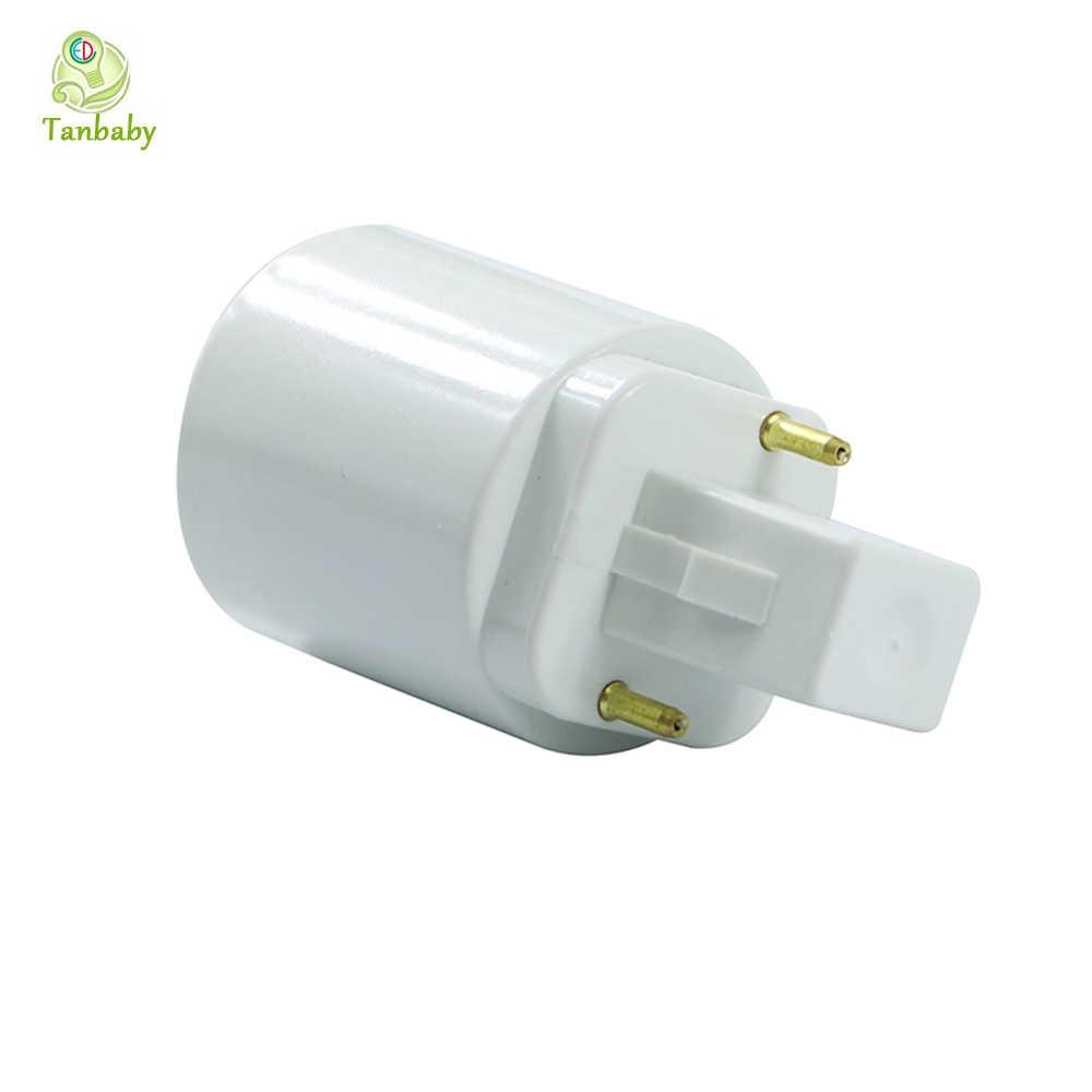 Fixture G24 To E27 Screw Base Convector PC Retardant for Led Lamp Bulb 1PC G24 To E27 Base Adapter White 2pin Base