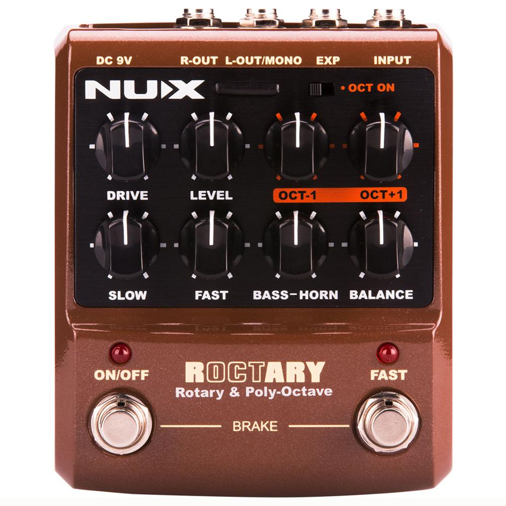 NUX ROCTARY Simulator Polyphonic Octave Effects Electric Guitar Pedal Musical Instruments Stompbox