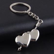 RE Novelty chaveiro couple keychain lovers heart key chain ring llaveros casual trinket jewelry Valentine's Day wedding gift D40 цены онлайн