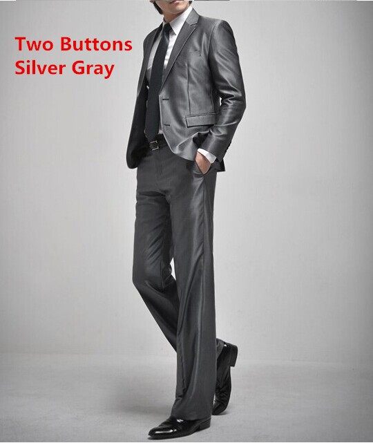 two buttons silver gray