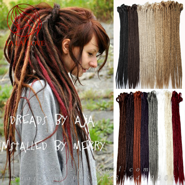 Colorful Synthetic Womens Dreadlock Extensions Handmade Fashion