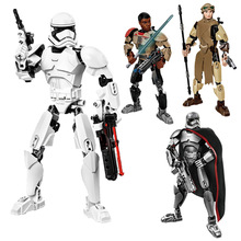 KSZ 605-1 Star Darth Vader Wars 7 Rey  Poe Dameron Finn Model Building Blocks Figure Toys For Children