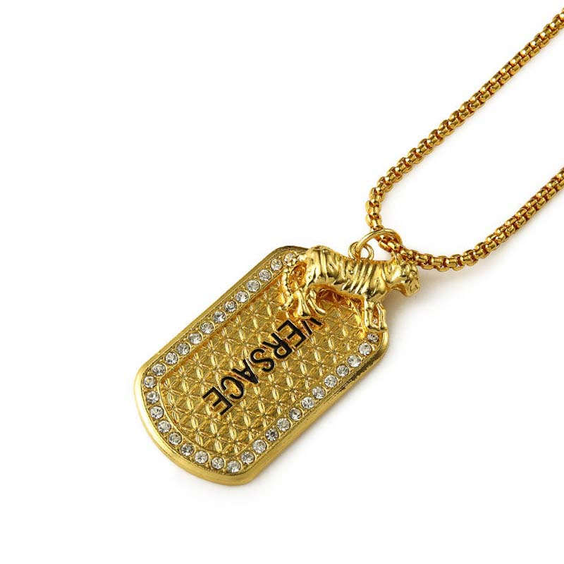 Fashion Design HipHop Jewelry Real Gold Plated Tiger Pendant