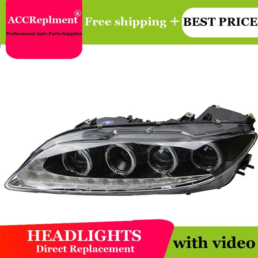 Car Styling per il 2003-2014 Mazda 6 Fari A LED Mazda6 LED DRL Lens Doppio Fascio H7 HID Allo Xeno bi xeno lente