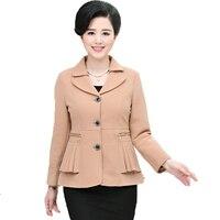 2017 אישה הסינית בלייזר מקרית חאקי שחור כחול ירוק אדום מעילי חליפת מעיל גברת משרד בלייזר של נשים בגיל עמידה עסקים