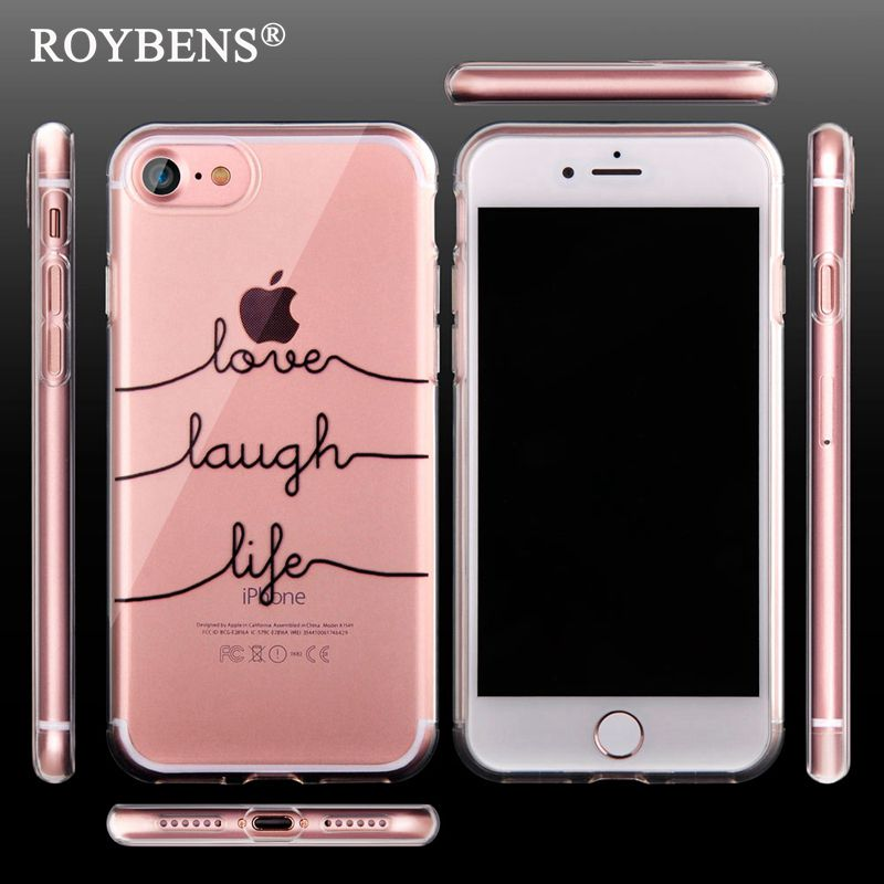 Unique Fashion Portuguese Words Case For iPhone 7 Transparent TPU Soft Cover For iPhone7 Plus 6 6S 5S Clear Silicone Rubber Capa