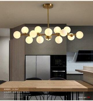 Современный стиль гостиная спальня минималистичный Ресторан подвесной светильник скандинавские украшения одежды стеклянная шариковая По...
