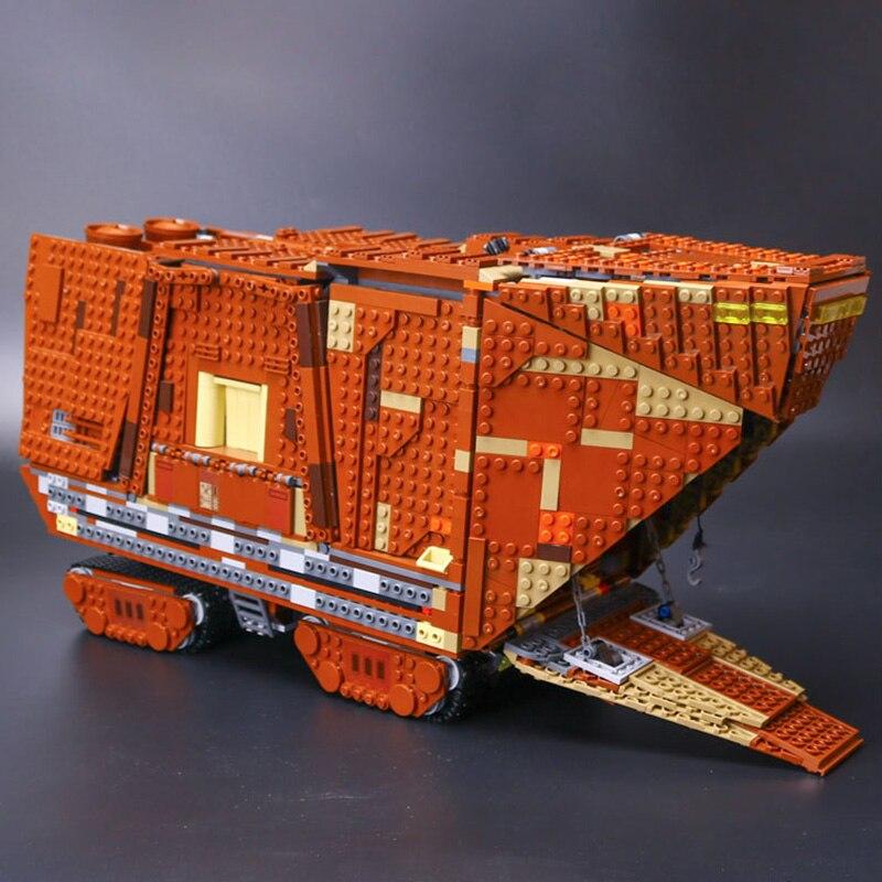 Lepin 05038 Star Plan Force Awakens Sandcrawler Awakens Model Building Kit Blocks Brick Christmas Toy legoyee 75059 lepin 05038 star wars episode iv sandcrawler similar with 75059 buliding kit