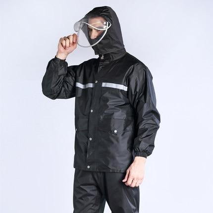 Raincoat rain pants suit waterproof body motorcycle battery split adult hiking riding fishing rain coat