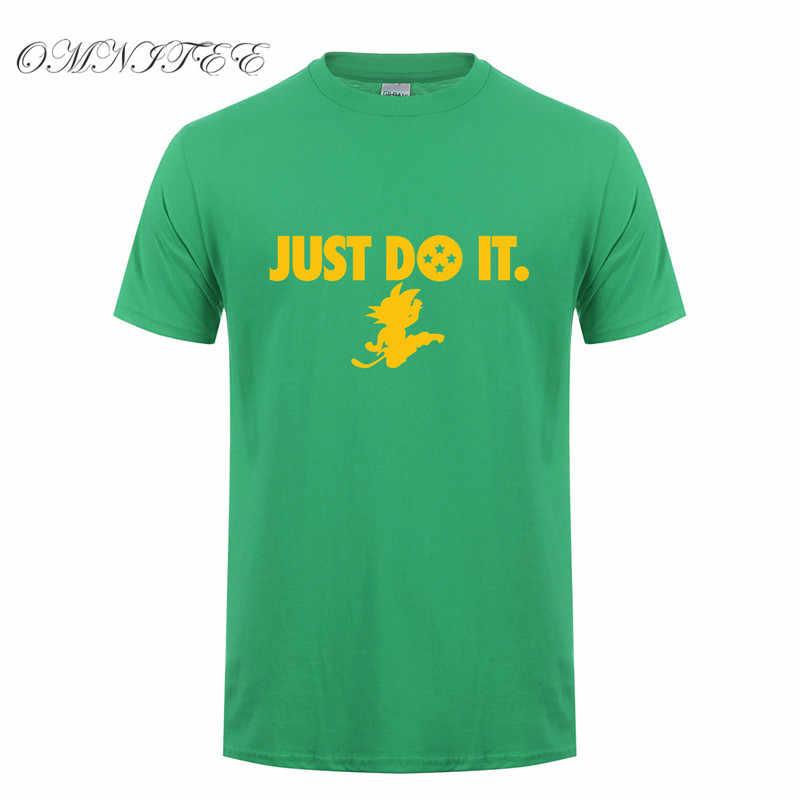 Omnitee лето Аниме Драконий жемчуг Z футболки Для мужчин короткий рукав Мода хлопок просто сделать Сон Гоку футболки мультфильм рубашка ot-440