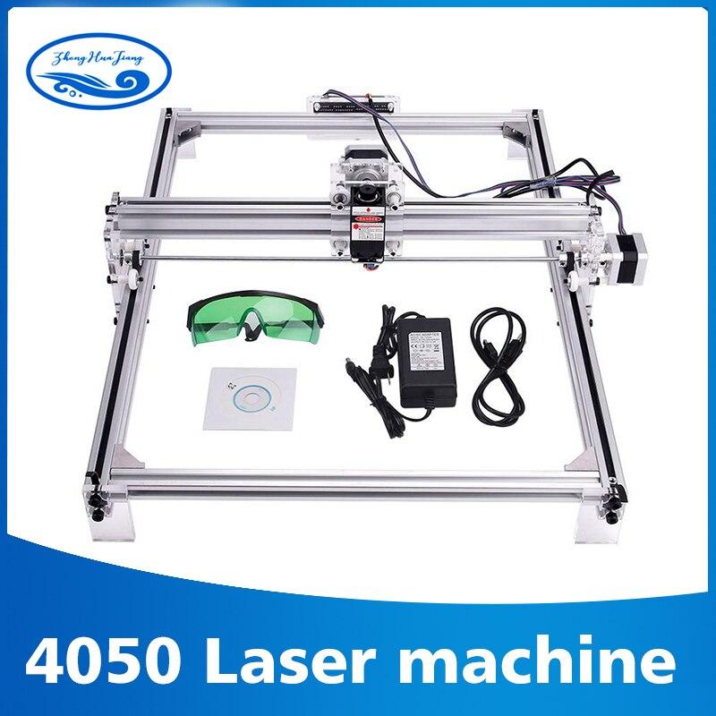 Zone de travail 40 cm x 50 cm, machine de CNC laser 500 mw/2500 mw/5500 mw, imprimante de CNC d'image de Machine de gravure Laser Violet bricolage de bureau