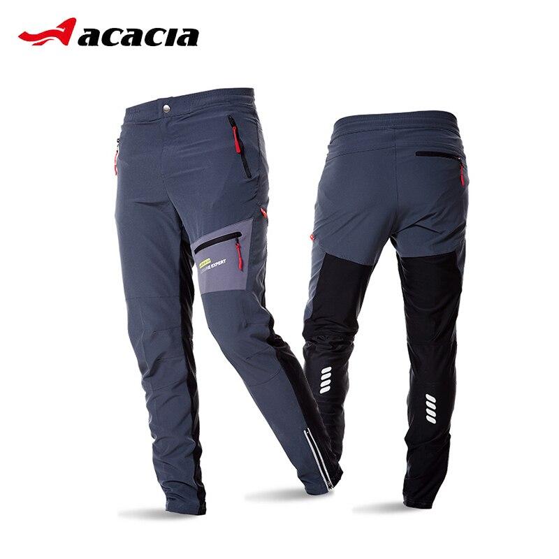 ACACIA Noir Gris Respirant Doux Vélo Sécurité Réfléchissant Élastique Taille Pantalon Printemps Automne Hommes Cyclisme Long Pantalon 02997