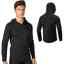 Custom Logo Men Training Hooded Running Jacket Long Sleeve Basketball Sport Sweatshirt Outdoor Sports Jacket Fitness Gym Shirts(China)