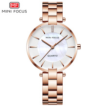 MINI FOCUS Black Stainless Steel Bracelet Watches for Women Fashion Luxury Dress Wrist Watch for Lady Woman Relogios MFW0224