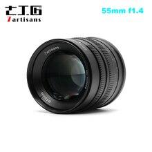 7artisans 55mm F1.4 objectif Portrait à grande ouverture pour Sony E Mount pour Fuji M4/3 Mount EOS M A6300 A6500 X A1 G5 M5
