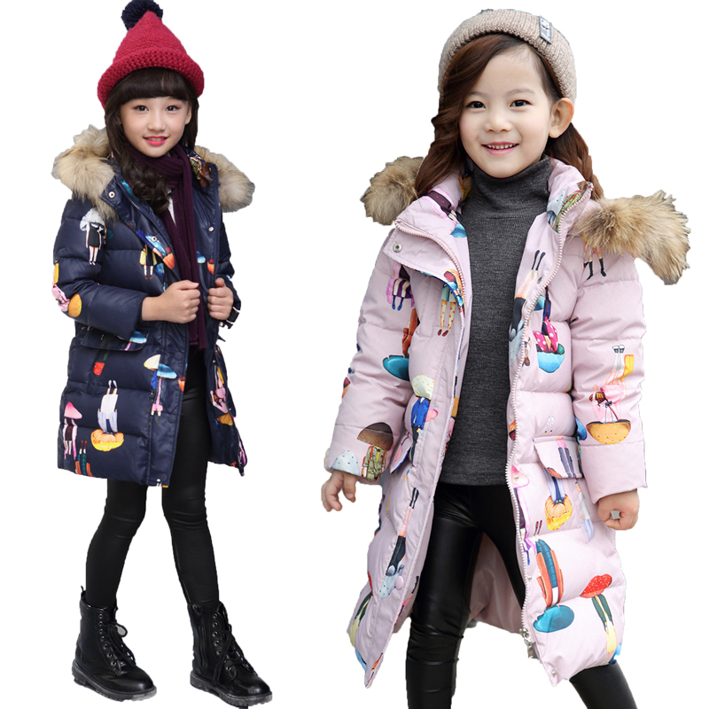 2017 Fashion Girls Down jackets/coats winter Russia baby Coats thick duck Warm jacket Children Outerwears -20degree jackets L102017 Fashion Girls Down jackets/coats winter Russia baby Coats thick duck Warm jacket Children Outerwears -20degree jackets L10