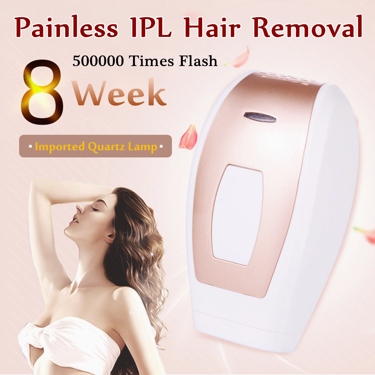 Laser IPL Epillator Hair Remover Lip Armpit Body Bikini Removal 500000 Flashes Painless Five Adjustable US/EU Plug Safe 110~240VLaser IPL Epillator Hair Remover Lip Armpit Body Bikini Removal 500000 Flashes Painless Five Adjustable US/EU Plug Safe 110~240V