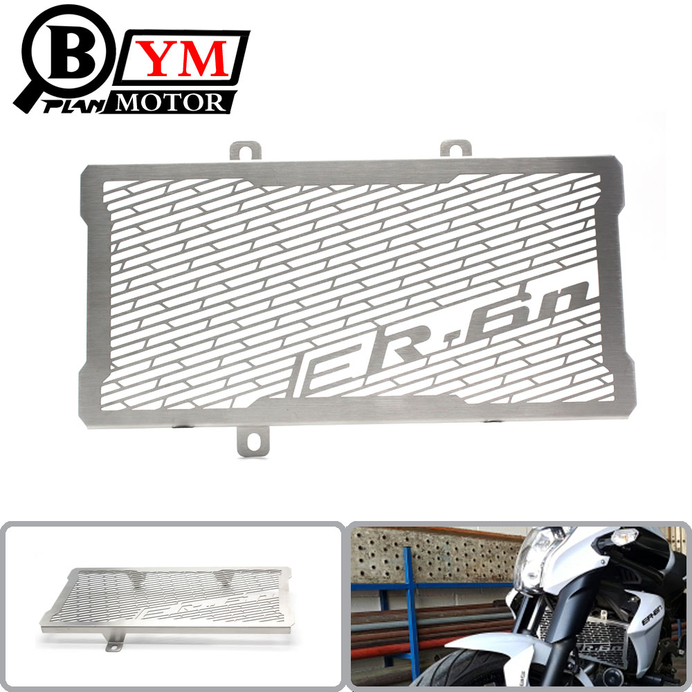 FREE SHIPPING For Kawasaki ER6N ER-6N 2012 2013 2014 2015 2016 Motorcycle Accessories Radiator Grille Guard Cover Protector motorcycle radiator grille grill guard cover protector golden for kawasaki zx6r 2009 2010 2011 2012 2013 2014 2015